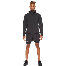 2XU Aero Jacket Men, black/silver reflective